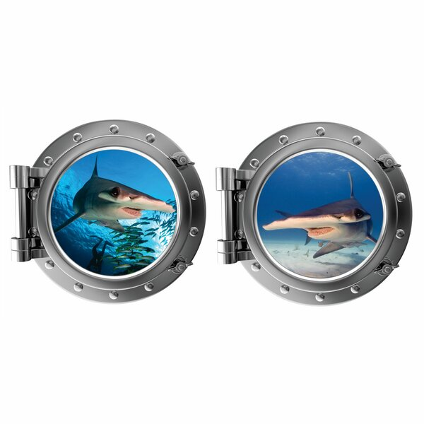 The Hammerheads Porthole Fabric Wall Decal by Decal the Walls