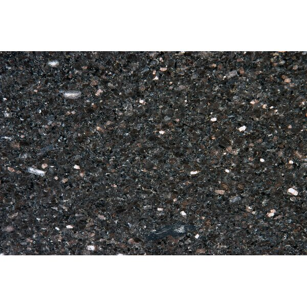 18 x 31 Polished Granite Tile in Black Galaxy by MSI