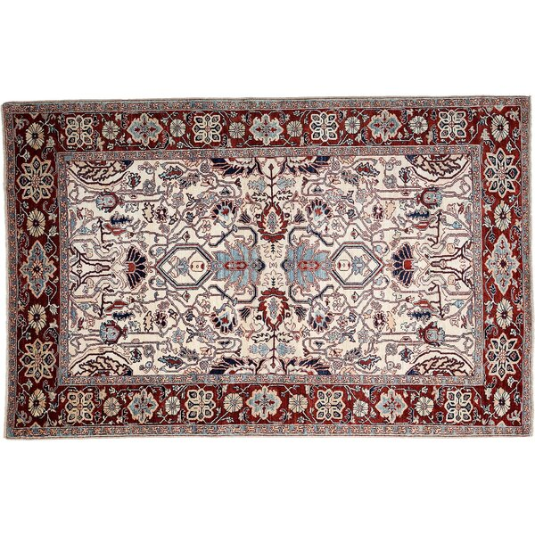 One-of-a-Kind Serapi Hand-Knotted Ivory Area Rug by Darya Rugs