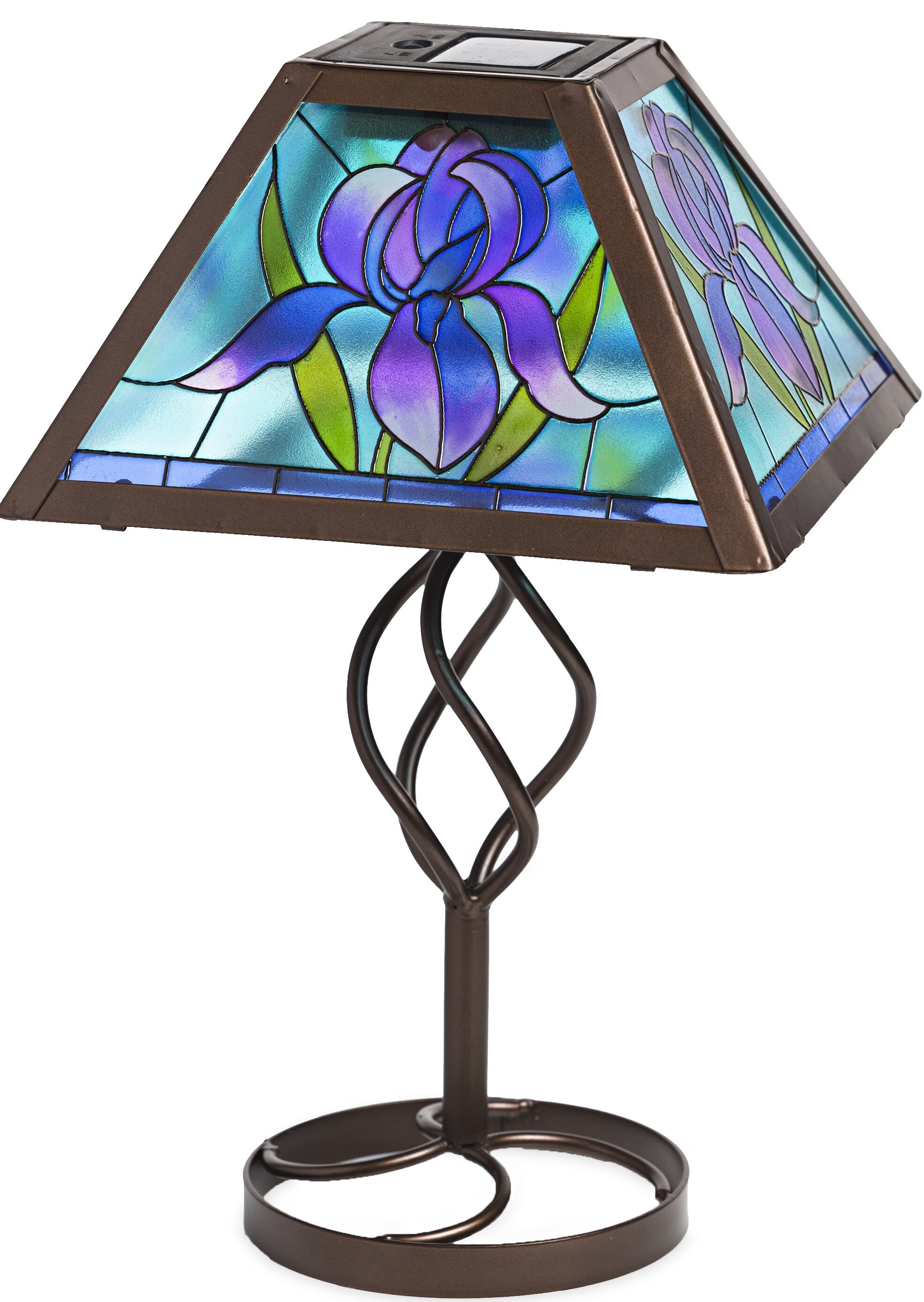 Plow Hearth Tiffany Style Flower Solar Outdoor 12 75 Table Lamp Reviews Wayfair