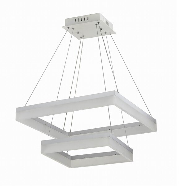 Laurini 1 - Light Unique Square LED Chandelier By Latitude Run