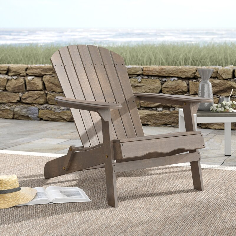 Ridgeline Solid Wood Folding Adirondack Chair
