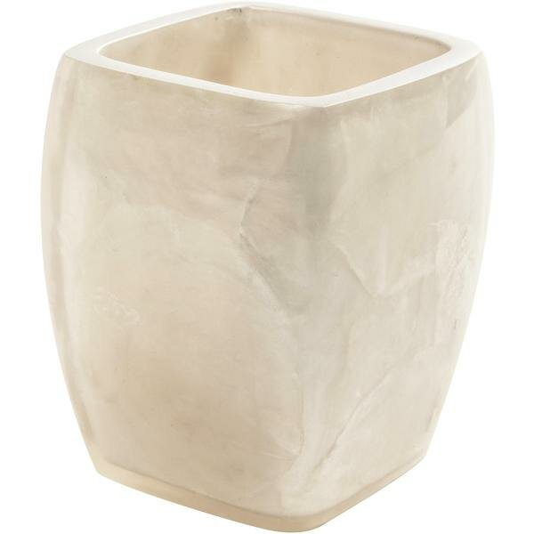 Jaworski Square Mother of Pearl and Resin Toothbrush Holder by Highland Dunes