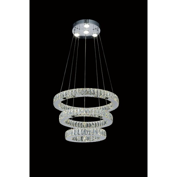 Bartee LED Unique / Statement Tiered Chandelier by House of Hampton House of Hampton