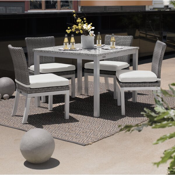 Saleh 5 Piece Dining Set with Cushion by Brayden Studio
