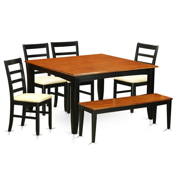 Pilning 6 Piece Extendable Solid Wood Dining Set By August Grove Top Reviews