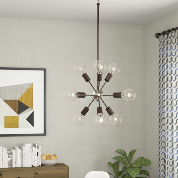 Alsfeld 9-Light Sputnik Chandelier by Langley Street
