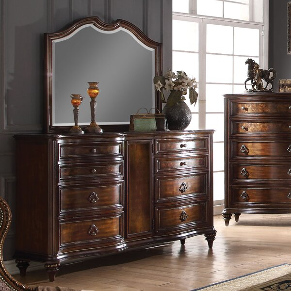 Wentzel 8 Drawer Combo Dresser with Mirror by Astoria Grand