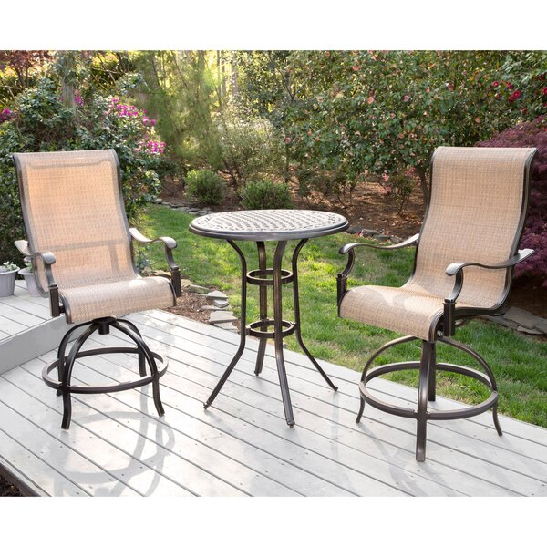 Buariki 3 Pieces Bistro Set by Fleur De Lis Living