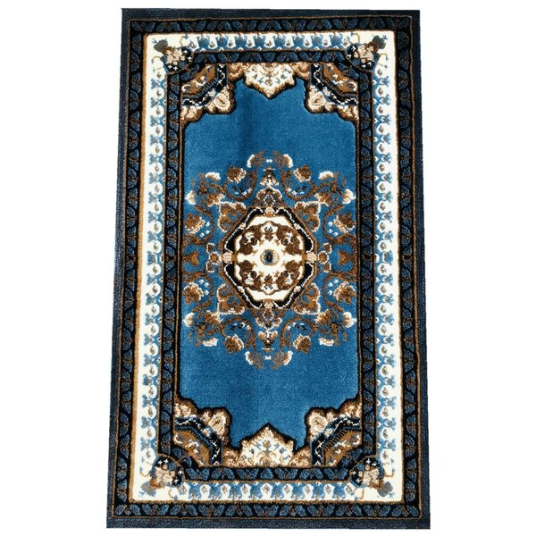 Edeline Traditional Blue Area Rug by Astoria Grand