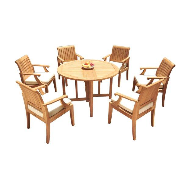 Camren 7 Piece Teak Dining Set by Rosecliff Heights