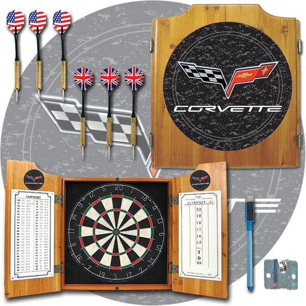Corvette Model Dart Cabinet in Medium Wood by Trademark Global