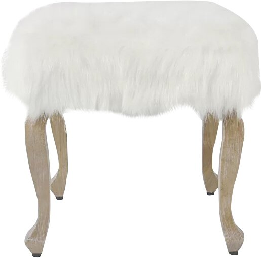 Birger Faux Fur Square Stool by Willa Arlo Interiors