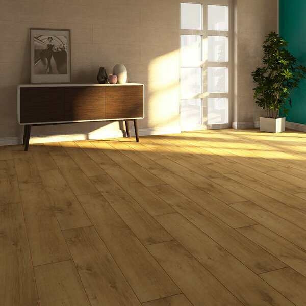 V4 7 x 51 x 8mm Oak Laminate Flooring in Tan by ELESGO Floor USA