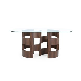 Kimbell Chambered Pedestal Base Dining Table