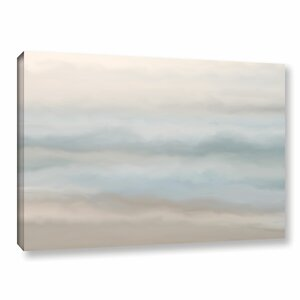 Sand, Sea and Sky Painting Print on Gallery Wrapped Canvas by Beachcrest Home