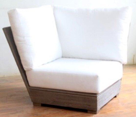Constance Teak Outdoor Sectional Corner Chair with Sunbrella Cushion by Brayden Studio