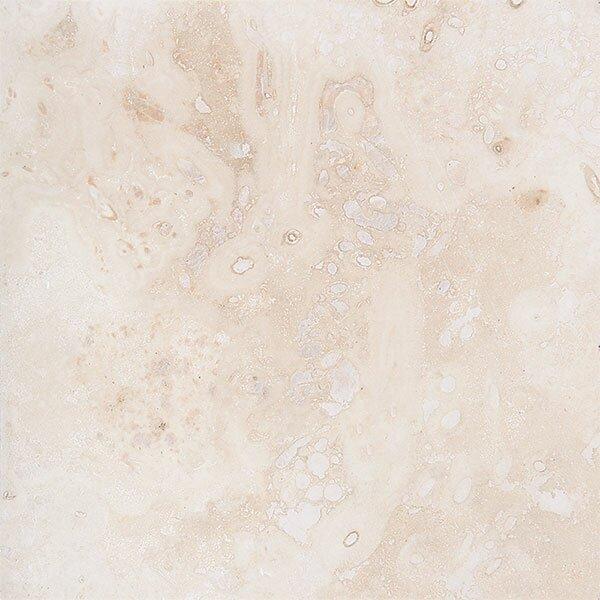 Pueblo 18 x 18 Travertine Field Tile in Ivory Honed by Parvatile