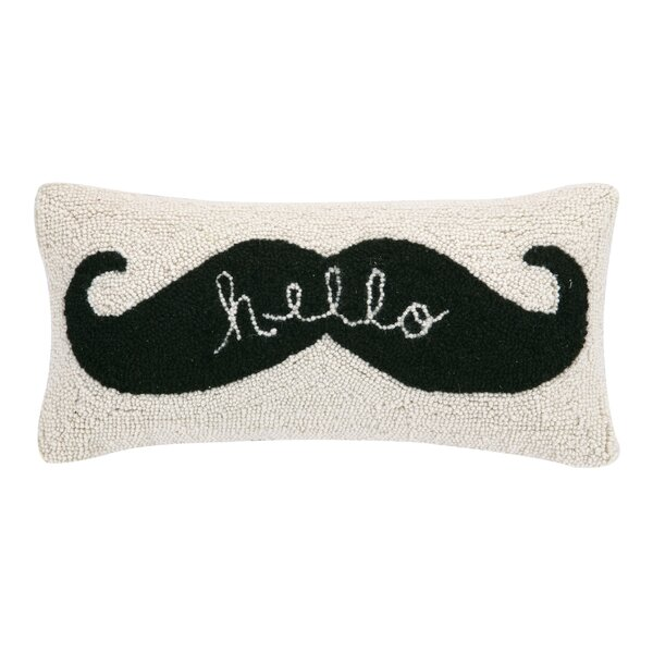 Hello Hook Wool Lumbar Pillow by Peking Handicraft