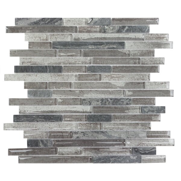 Palisades Random Sized Glass Mosaic Tile in Gray by Mulia Tile