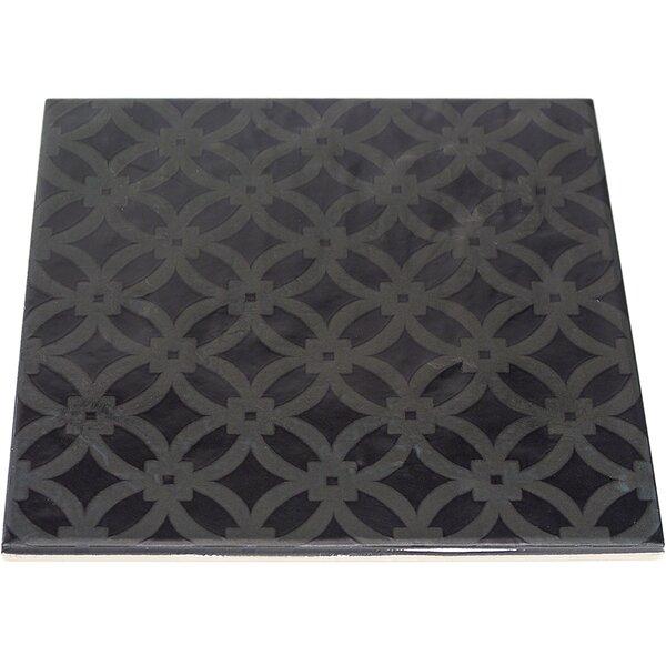 Reggino 9 x 9 Porcelain Field Tile in Matte Nero by Splashback Tile