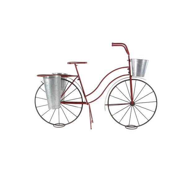 Stiefel Rustic Bicycle Metal Pot Planter by Winston Porter