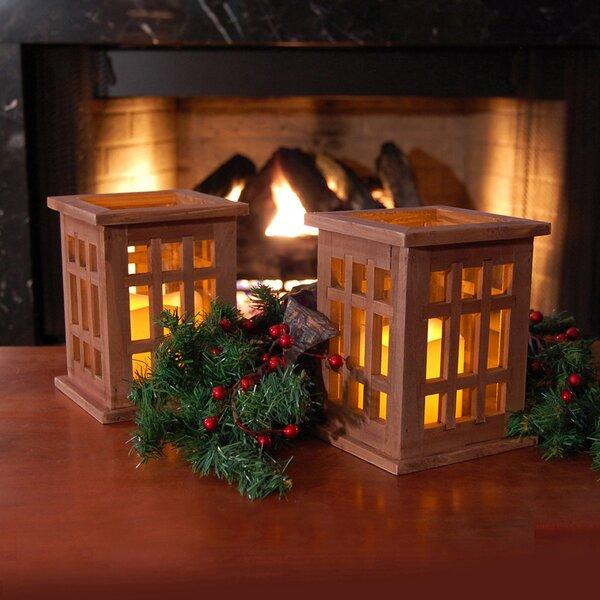 Wood Lantern (Set of 2) by LumaBase