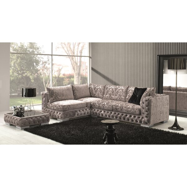Dunlin Fabric Sectional by Rosdorf Park