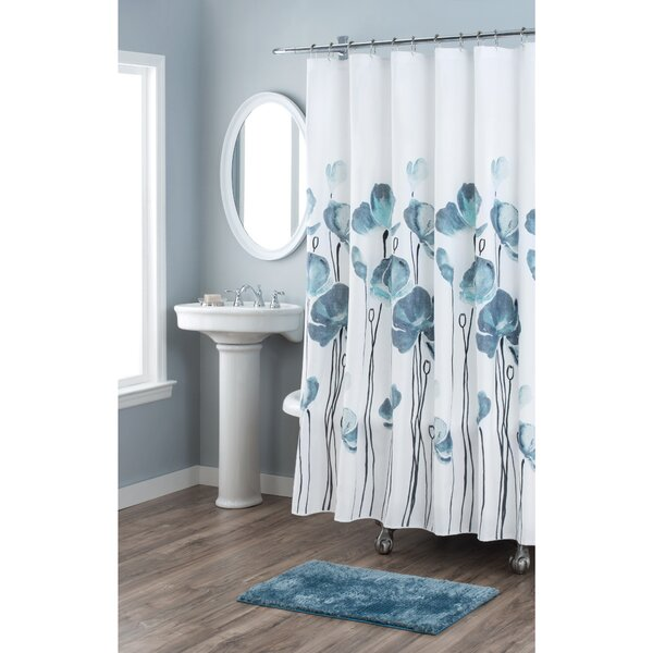 Petunia Cotton Shower Curtain by Nicole Miller