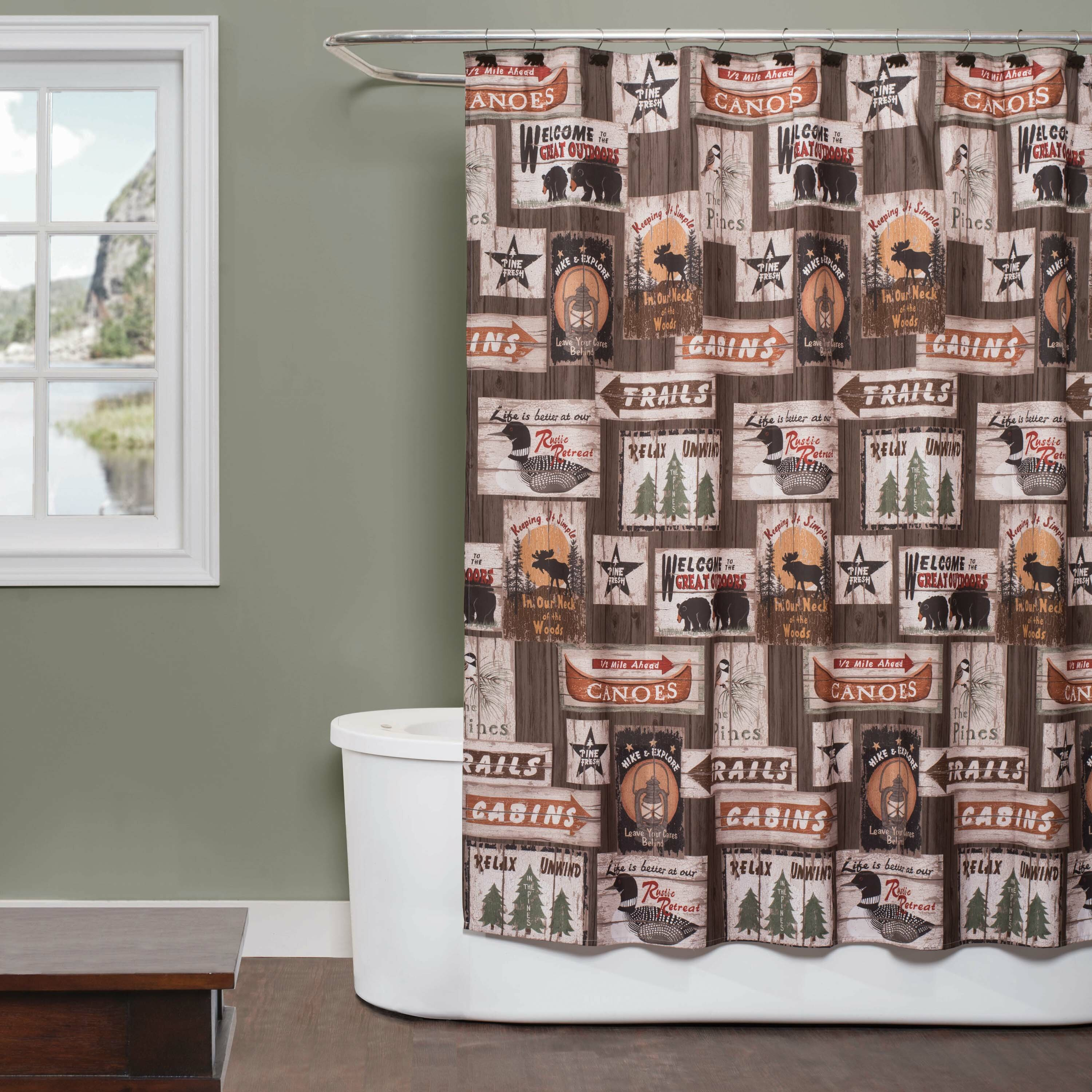 Millwood Pines Forrestal Great Fabric Shower Curtain
