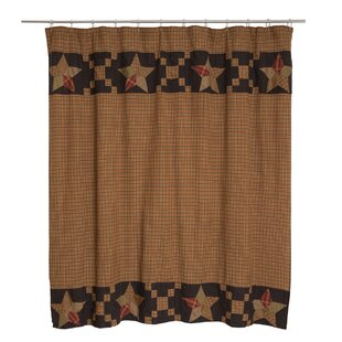 Top Reviews Crosby Patchwork Star Border Cotton Shower Curtain By August Grove
