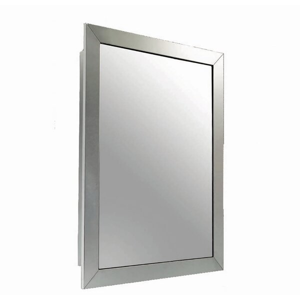 Odalys Satin Wide Mirror Door 26 x 18 Framed Medicine Cabinet