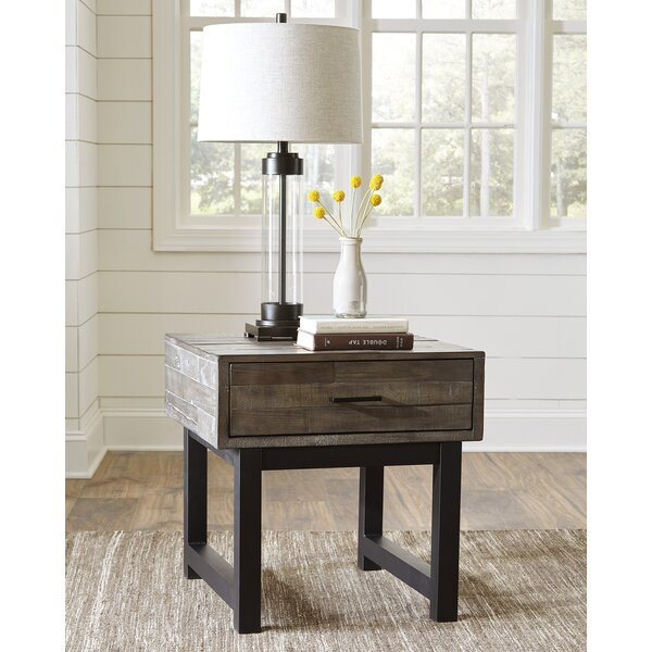 Malachy End Table with Storage by Gracie Oaks
