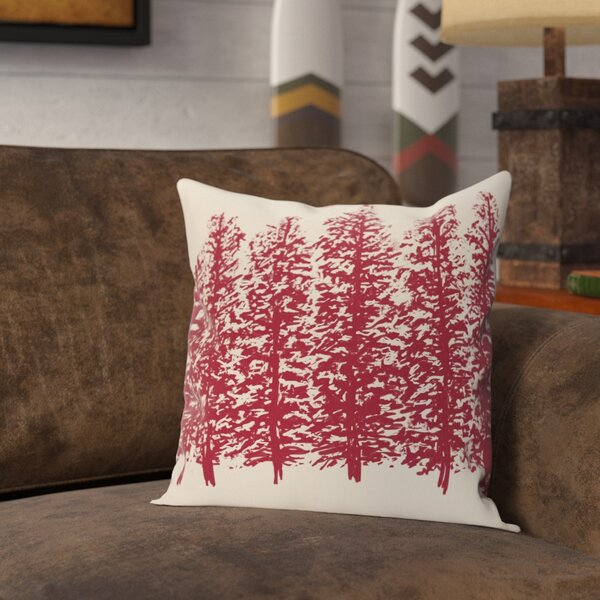 Amak Through the Woods Flower Print Throw Pillow by Loon Peak