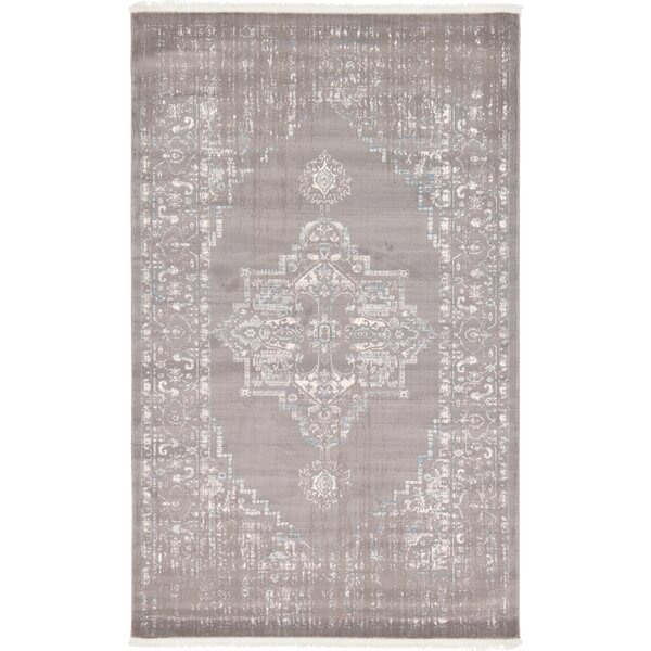 Sherrill Light Gray Area Rug by Bungalow Rose