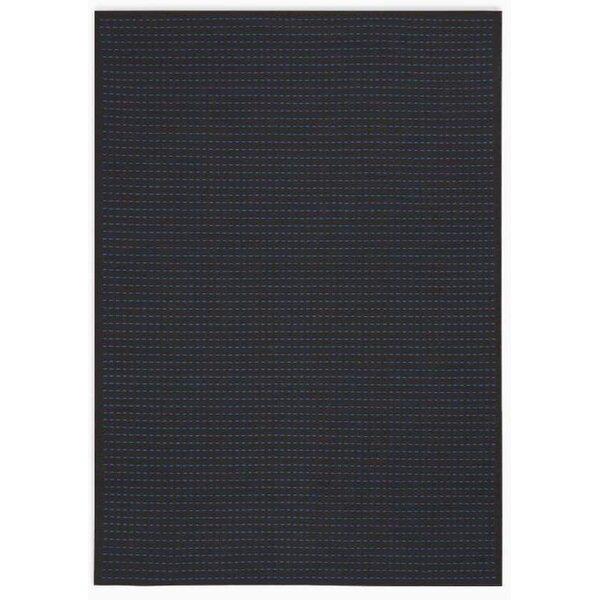Seattle Hand-Woven Black/Cobalt Indoor/Outdoor Area Rug by Calvin Klein