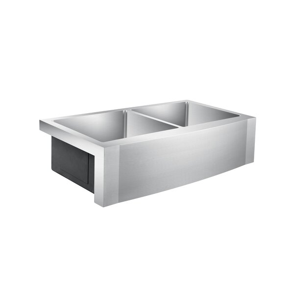 Dixon 39 x 21 Double Basin Farmhouse Kitchen Sink by Barclay