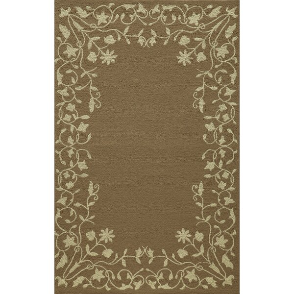McMahon Hand Hooked Latte Area Rug by August Grove