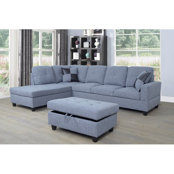 Riehlin Sectional with Ottoman by Ebern Designs