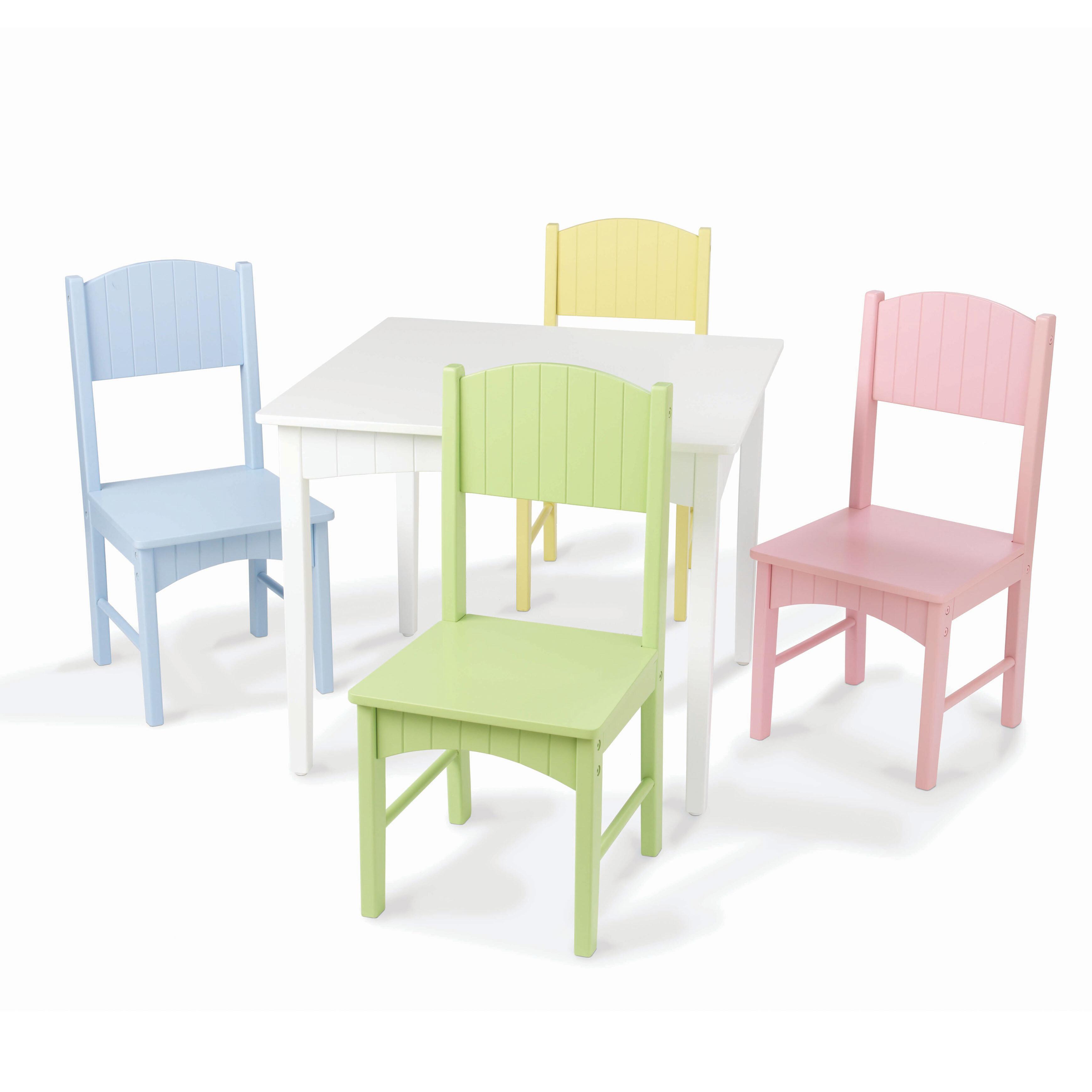 KidKraft Nantucket Kids 5 Piece Table & Chair Set & Reviews   Wayfair
