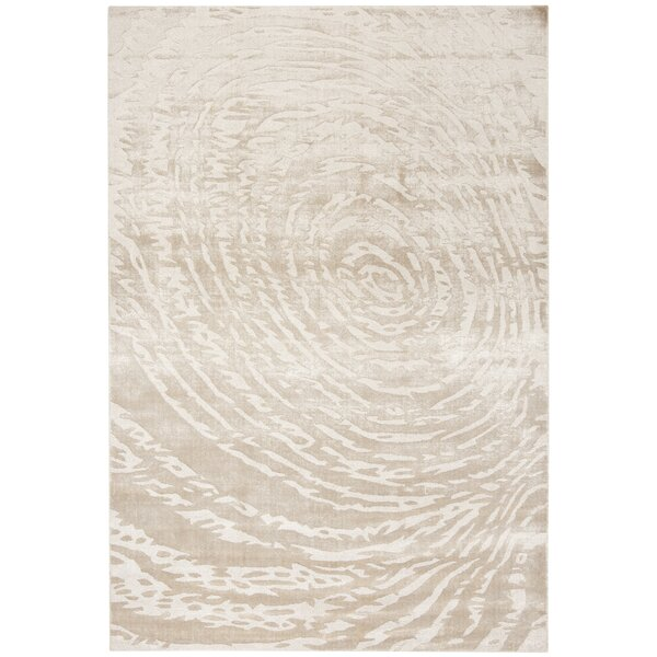 Alcanza Hand Woven Cotton Ivory Area Rug by Bloomsbury Market