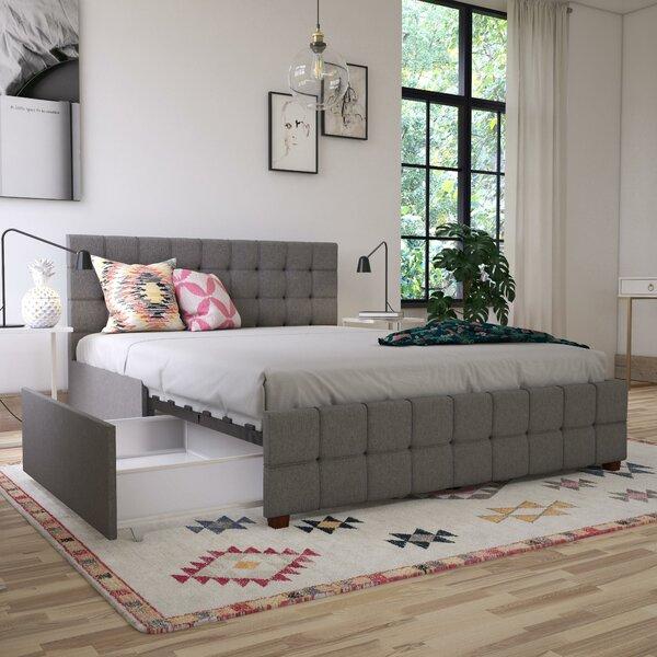 Elizabeth Upholstered Storage Platform Bed by CosmoLiving by Cosmopolitan