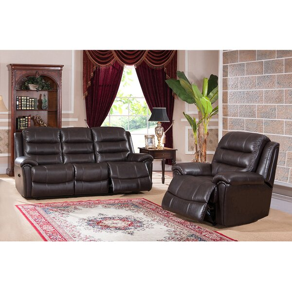 Astoria Reclining 2 Piece Leather Living Room Set by Amax