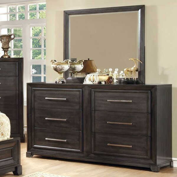 Westbury Park 6 Drawer Double Dresser with Mirror by Darby Home Co