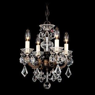 Schonbek chandeliers youll love wayfair la scala 4 light mini chandelier by schonbek mozeypictures Images