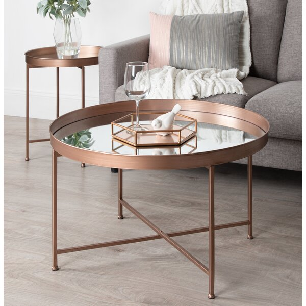 Kriebel Metal Foldable Lift Top Coffee Table by Bungalow Rose