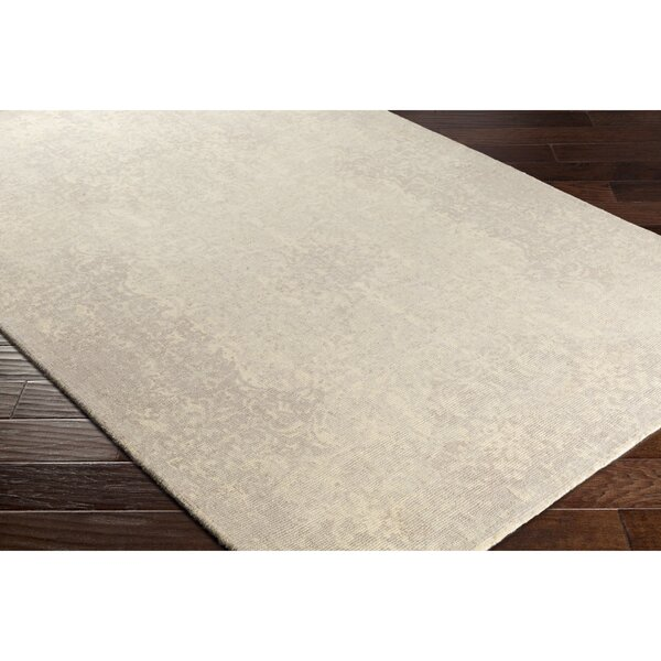 Anselma Hand-Loomed Neutral/Blue Area Rug by Bungalow Rose