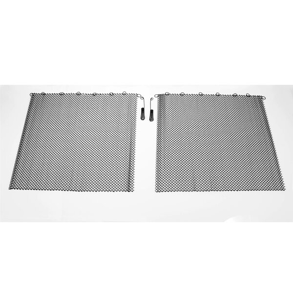 Mesh Curtain 2 Panel Steel Fireplace Screen By Condar