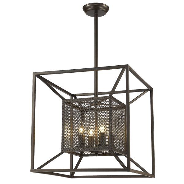Whyalla 4 - Light Candle Style Square / Rectangle Chandelier by Gracie Oaks Gracie Oaks