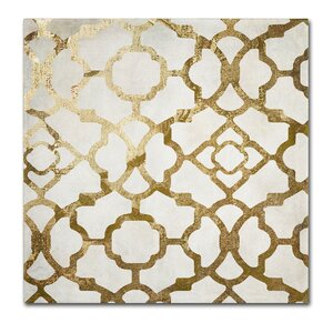 'Moroccan Gold II' by Color Bakery Graphic Art on Wrapped Canvas by Trademark Fine Art